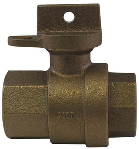 A.Y. McDonald 3/4 in. FIP Brass Ball Valve Curb with Lockwing M76101WFEF