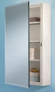Jensen Topsider Surface Mount Beveled Mirror Medicine Cabinet in White R268P26WH
