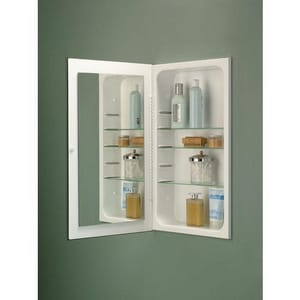 Jensen Cove Frameless Flat Mirror Glass Shelves R1035P24WHG