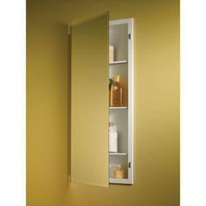 Jensen Horizon 36 in. Recessed Mount Beveled Edge Mirror Glass Shelves R868P34WHG