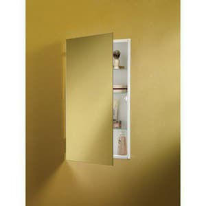 Jensen Ultra Frameless Glass Mirror Shelves Medicine Cabinet in White R869P24WHG