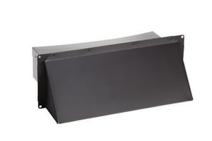 Broan Nutone 3-1/4 x 14 in. Black Wall Cap BWC638