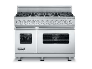 Viking Range 48 in. Custom Series Diamond Finish Self Cleaning Range VVDSC5488B