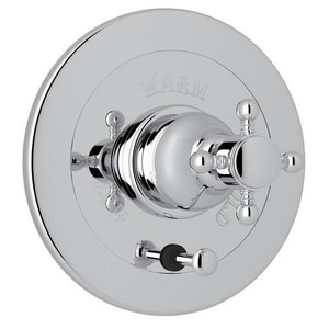 Rohl Country Bath Pressure Balancing Valve Trim with Single Cross Handle and Diverter RA7400XM