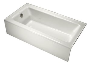 Kohler Bellwether® Cast Iron 3-Wall Alcove Rectangle Bathtub with Right Drain K876