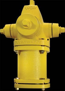American Flow Control 6 in. Mechanical Joint Hydrant Bury with Left Opening Less Accessories AFCWB67LAOLPMJD