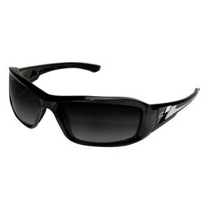 Edge Eyewear Brazeau Safety Glasses with Black Frame & Polarized Silver Mirror Lens WTXBG216