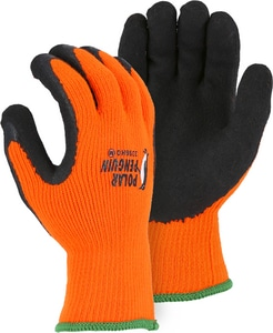 Majestic Glove Latex Palm High-Visibility Water Glove in Orange M3396HOT01