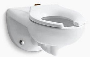 Kohler Kingston™ Elongated Wall Mount Toilet Bowl with Top Inlet K4325