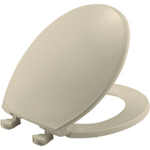 Bemis Plastic Round Closed Front Toilet Seat in Bone B800EC006