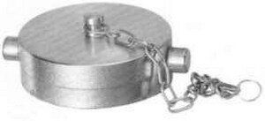 Fire-End & Croker 2-1/2 x 2-1/2 in. Female Cap with Chain F5713CB