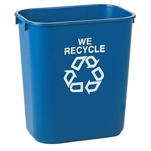Rubbermaid 7 gal Deskside Medium Recycling Container RFG295673
