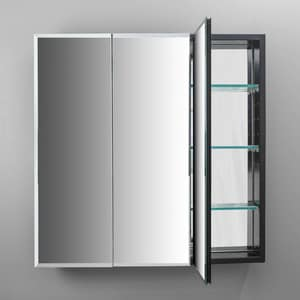 Robern PL Series 30 in. Two Door Mirrored Medicine Cabinet RPLM3030B
