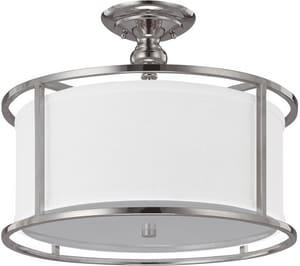 Capital Lighting Fixture Midtown 13 x 17 in. 60 W 3-Light Medium Semi-Flush Mount Ceiling Fixture C3914459