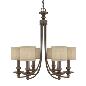 Capital Lighting Fixture Midtown 60 W 6-Light Candelabra Chandelier C3916BB450