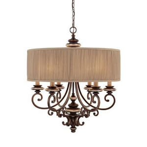 Capital Lighting Fixture Park Place 32 in. 60 W 6-Light Candelabra Chandelier C3885CZ446