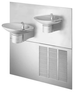 Halsey Taylor OVL-II™ 18 in. ADA Wall Mount Bi-Level Reversible Water Fountain in Stainless Steel HOVLIIESRQ