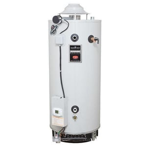 Bradford White Magnum Series ® 100 gal. Commercial Flue Damper Electronic Ignition Energy Saving Gas Water Heater BD100L199E3N877