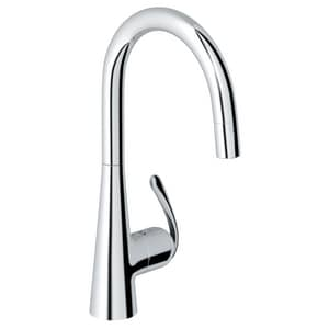 Grohe Ladylux™3 Pro 2.2 gpm 1 Lever Handle Deck Mount Kitchen Sink Faucet Pull Out Spout 3/8 in. Compression Connection G322260