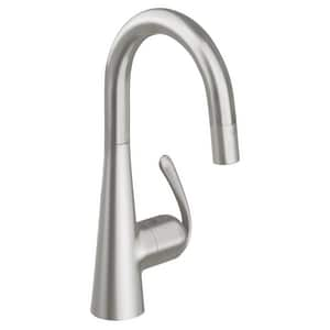 Grohe Ladylux™3 Pro 1-Hole Sink Mixer Faucet with Single Lever Handle in SuperSteel Infinity G32283DC0