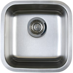 Blanco America Stellar™ 15 x 15 in. Single Bowl Drop-In Bar Sink No Hole B441026