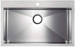 Blanco America Precision™ MicroEdge Single Bowl Single Hole Sink with Ledge B516194