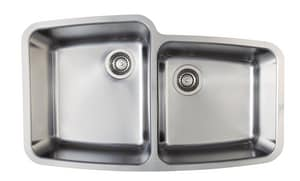 Blanco America Performa™ 9 in. 2-Bowl Stainless Steel Undermount Kitchen Sink B441002