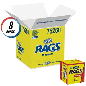 Kimberly Clark Scott® 13 in. Rag in White 200 Pack K75260