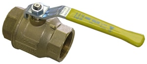 FNW Brass Threaded 2-Piece Full Port Ball Valve with Locking Lever Handle FNW400LL