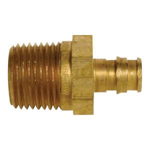Uponor North America ProPEX® PEX x NPT Brass Male Adapter ULF4521