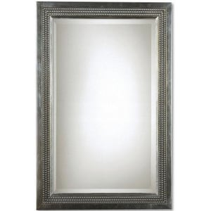 Uttermost Company 23 in. Triple Beaded Vanity Mirror in Silver U14411B