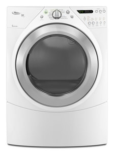 Whirlpool Duet® 27 in. 7.2 cf 240V 12-Cycle Electric Steam Dryer WWED9550W