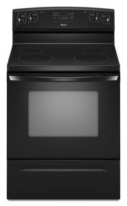 Amana 4.8 cf 30 in. Electric Free Standing Range with Self Cleaning AAER5830VA
