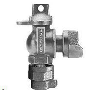 Mueller Industries 1 in. Pack Joint x Meter Swivel Ball Angle Valve with Lock Wing MP24258NG