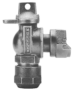 Mueller Industries 3/4 in. CTS Compression x Meter Swivel Angle Ball Valve MB24258NF