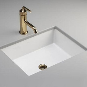 Kohler Verticyl No Hole Undermount Rectangular Bathroom Sink 2882