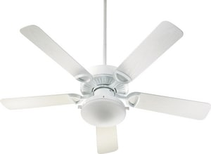 Quorum International Estate Patio 52 in. 5-Blade Outdoor Fan with 40 W Candelabra Light in White Q143525906