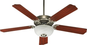 Quorum International Capri 52 in. 5 Blade Ceiling Fan With 2 in. 60 W Rose Candelabra Light Q775259265