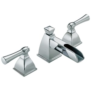 Brizo Vesi® 1.2 gpm 3-Hole Widespread Lavatory Faucet with Double Lever Handle D65345LF
