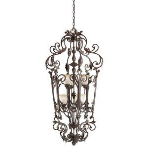 Kichler Lighting Wilton™ 60 W 6-Light Foyer in Carre Bronze KK2471CZ