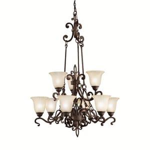Kichler Lighting Wilton™ 100 W 9-Light Chandelier KK2091CZ
