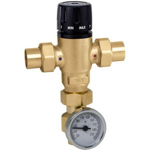 Caleffi North America Sweat 3 Way Mixing Valve with Adapter & GA C52119A