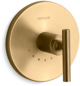 Kohler Purist® Thermostatic Valve Trim in Vibrant Moderne Brushed Gold KT14488-4-BGD