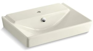 Kohler Reve™ 23-5/8 x 18-5/16 in. Pedestal Bathroom Sink Basin with Single Faucet Hole K5027-1