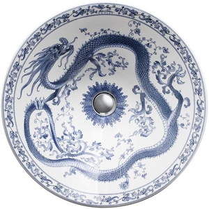 Kohler Imperial Blue™ Above-Counter or Wall Mount Bathroom Sink in White K14223-VB-0