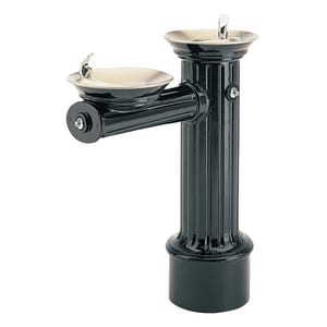 Haws ADA Freeze Resistant Heavy Duty Aluminum Pedestal Drink Fountain H3511FR