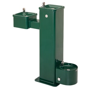 Haws Stainless Steel Vandal-Resistant Pedestal Drinking Fountain H3500D