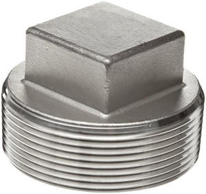 Threaded 3000# 316L Stainless Steel Square Plug IS6L3TSP