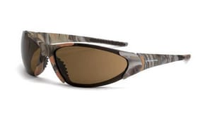 Crossfire Safety Eyewear Copper Revival Safety Glasses with Camouflage Frame & Brown Lens CR18146
