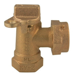 Ford Meter Box 5/8 in. FIP x Meter Angle Key Valve FKV13342WNL